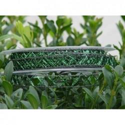 Schleifenband Shine tannengrün